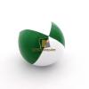Play zsonglőrlabda, 60mm,fehér-zöld