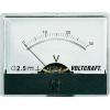 Voltcraft Beépíthető analóg lengőtekercses feszültségmérő műszer 30V/DC Voltcraft AM-60x46