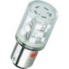 Conrad LED jelzőlámpa 15 db szuperfényes LED-del, BA15d, 12 V, zöld, Barthelme 52190113