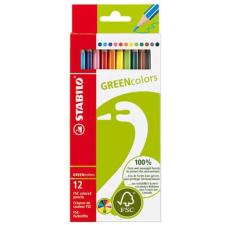 STABILO GreenColors színes ceruza készlet, 12 szín színes ceruza
