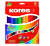 KORES DUO kétvégű színes ceruza, háromszögletű, 24 db/doboz színes ceruza