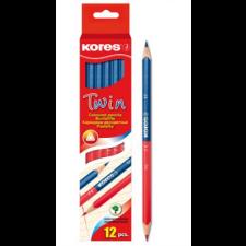 KORES Twin Postairón, háromszögletű, kék-piros színes ceruza