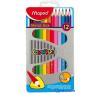 MAPED Color`Peps színes ceruza készlet, háromszögletű, fém doboz, 12 különböző szín színes ceruza