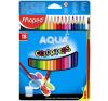MAPED Color`Peps színes ceruza készlet, háromszögletű, 18 különböző szín színes ceruza
