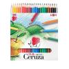 ICO Süni színes ceruza készlet, hatszögletű, 24 szín
