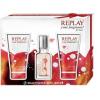 Replay Your Fragrance women edt 20ml + Testápoló 50ml + Tusfürdő 50ml női