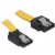 Cable SATA up/straight metal yellow 30cm