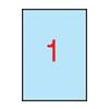 APLI 210x297mm színes pasztell kék 20db/cs