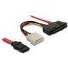 DELOCK Cable SAS 29pin + Molex > 1x SATA (SFF 8482