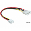 DELOCK Cable Power Molex 4 pin male > 3.5 floppy f