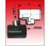 KPE-Tokos redukált T-idom 63/40 hűtés, fűtés szerelvény