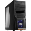 "CoolerMaster Elite 431 Plus Black Black,3x5,25"",5x3,5"",ATX,2xUsb,Audio,Táp nélkül,192x427x499 mm"