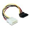 DELOCK Molex SATA HDD tápkábel átalakító (90 fokos)