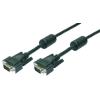 LogiLink VGA Cable, 2x male, black, 1,8m