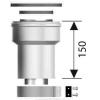 Ariston Függőleges indítóidom, alu/pp, ?80/125 mm