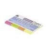 DONAU Jelölõcímke, papír, 4x50 lap, 20x50 mm, DONAU, vegyes szín