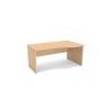MAYAH Íróasztal, íves, jobbos, laplábbal, 160x100 cm, MAYAH Premio KM-6, nyír