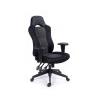 MAYAH Fõnöki szék, fekete/szürke gyöngyszövet-borítás, fekete lábkereszt, MAYAH Racer