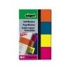 SIGEL Jelölõcímke, mûanyag, 4x40 lap, 20x50 mm, SIGEL 614, vegyes szín