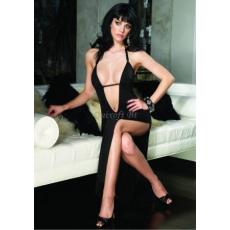 Leg Avenue testhez símuló fekete hosszúruha (88011)