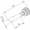 Ersa Pákahegy, véső forma 10 mm, Ersa 0102CDLF100C/SB
