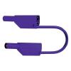 Biztonsági PVC mérővezeték szigetelt 4 mm-es banándugóval, 2,5 mm², 50 cm, lila, MultiContact SLK425-E