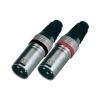 Paccs XLR lengő dugó készlet, 2 db, fém, Paccs