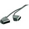 SCART dugó/dugó kábel, 1,2 m, fekete, SpeaKa 50015