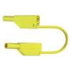Biztonsági PVC mérővezeték szigetelt 4 mm-es banándugóval, 2,5 mm², 200 cm, zöld-sárga, MultiContact SLK425-E