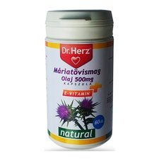 Dr. Herz Dr.Herz Máriatövismag Olaj 500mg 60 db táplálékkiegészítő