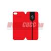Ferrari Galaxy S4 Flip cover bőr tok,Piros