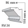 RV-34 - Rejtett világítás díszléc - oldalfal