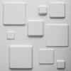 3D Falpanel - Squares (négyzetek) ID:009