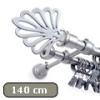 Siero karnis mattkróm Royal véggel, kétsoros, 140 cm