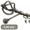 Siero karnis arany-fekete nagygömb véggel, egysoros, 140 cm