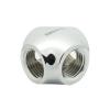 XSPC négyirányú adapter 1/4 coll - króm