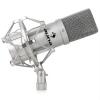 Auna MIC 900B USB kondenzátor mikrofon, ezüst, kardoid