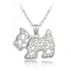 Kutyarajongók kedvence - ezüst kutya nyakék láncon