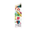 """ICO Vastag színes ceruza készlet, háromszögletű, ICO """"Süni"""", 6 különböző szín"""