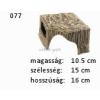 Kerámia M077 kőkunyhó sarok
