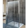 Radaway EOS KDS aszimmetrikus zuhanykabin 120x90