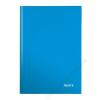 Leitz Beíró, A4, vonalas, 80 lap, keményfedeles, lakkfényű, LEITZ Wow, kék (E46251036)