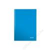 Leitz Beíró, A5, vonalas, 80 lap, keményfedeles, lakkfényű, LEITZ Wow, kék (E46271036)