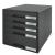Leitz Irattároló, műanyag, 5 fiókos, LEITZ Plus, fekete (E52110095)