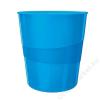 Leitz Papírkosár, 15 liter, LEITZ Wow, metál kék (E52781036)