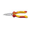 Wiha VDE laposfogó félgömbölyű csőrrel, vágóéllel, hajlított, 200 mm, Wiha Professional electric 26729