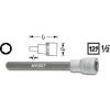Hazet Hatlapú csavarhúzófej belső hatszögű csavarokhoz 6 mm, belső négyszög 12,5 mm (1/2), Hazet 986LG-6