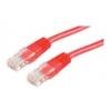 ROLINE UTP CAT5e patch kábel 0,5m, piros