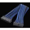 Bitfénix Bitfenix 24 tûs ATX hosszabbító 30cm - fekete / kék / fekete