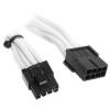 Bitfénix Bitfenix 6+2-Pin PCIe hosszabbító 45cm - fehér / fekete